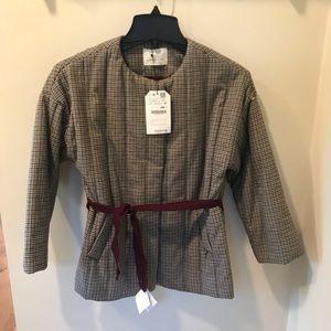 Zara Girls NWT Houndstooth Jacket